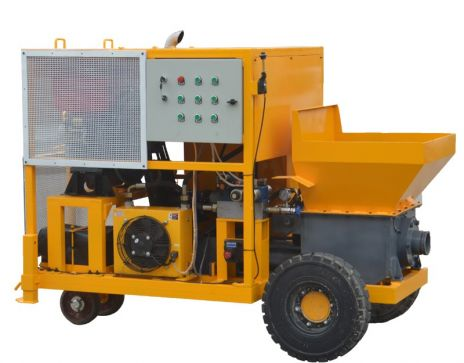WMP7-35D Mini Concrete Pump with diesel engine
