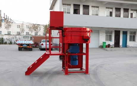 Refractory pan mixer for mixing castable