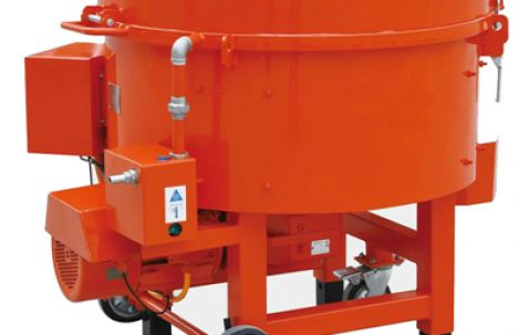 Application of refractory pan mixer