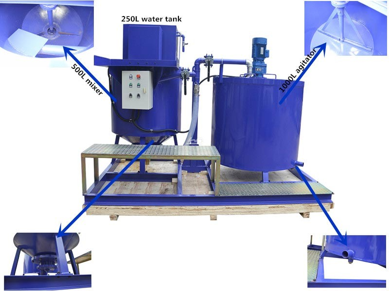 WMA500-1000E Cement grout mixer and agitator